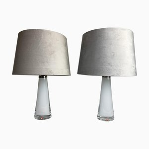 Mid-Century Model 1566 Table Lamps by Carl Fagerlund for Orrefors, Set of 2