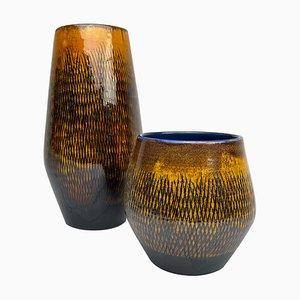 Mid-Century Fiamma Ceramic Vases from Upsala-ekeby, 1960s, Set of 2