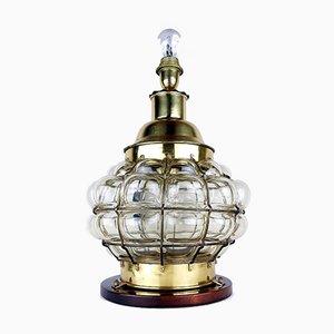 Vintage Large Bubble Glass Table Lamp, 1960s