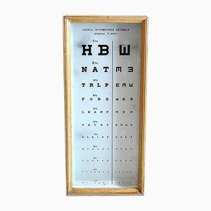 Optotype Optometer retroilluminato in legno, anni '60