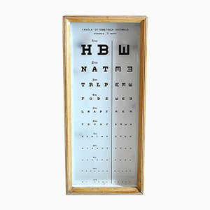 Wooden Backlit Optotype Optometer, 1960s