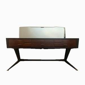 Rosewood Chest of Drawers with Mirror in the Style of Ico Parisi, 1950s