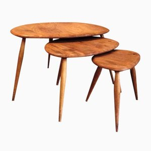 Tables Gigognes Pebble par Lucian Ercolani pour Ercol, 1960s, Set de 3