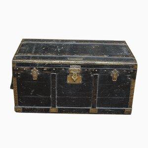 Antique Brass Plate Snutsel Travel Trunk