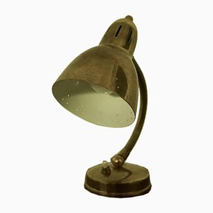 Mid-Century Swedish Brass Model 5 Table Lamp from AJH, 1950s