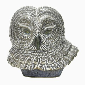 Mid-Century Owl Figurine by Gunnar Nylund for Rörstrand, 1950s