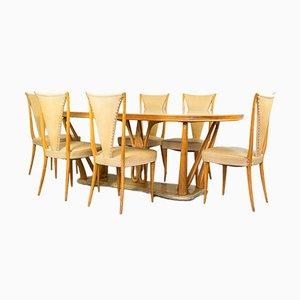 Esstisch & Stühle im Stil von Vittorio Dassi, 1940er, 7er Set