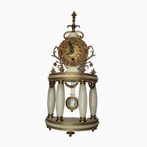 Orologio da camino antico in stile Luigi XVI