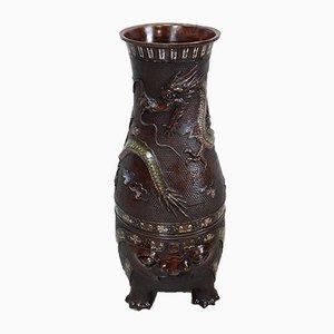 Chinesische Kupfer Cloisonné Vase, spätes 19. Jahrhundert