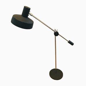 Vintage Dutch Adjustable Black Steel & Chrome Table Lamp by W. Hagoort for Hagoort, 1960s