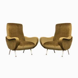 Italian Lady Lounge Chairs by Marco Zanuso, 1960s, Set of 2