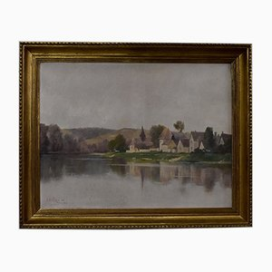 A. Delahogue, Gold Framed Canvas Painting, 1892