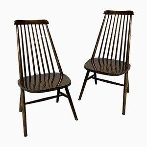 Beistellstühle von Ilmari Tapiovaara, 1950er, 2er Set
