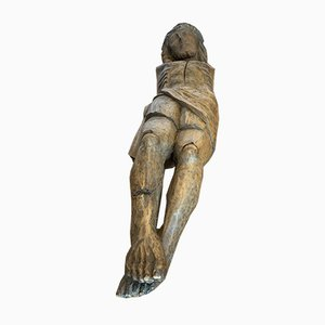 Carved Wood Christ Figure