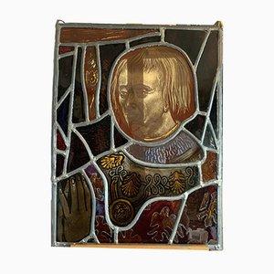 Finestra in vetro colorato raffigurante il cavaliere di Montmorency