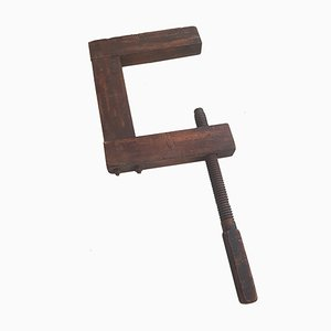Large Antique Wooden Clamp