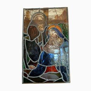 Finestra in vetro colorato raffigurante la Sacra famiglia