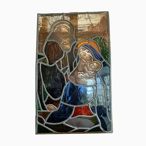 Stained Glass Window with Representation of the Holy Family