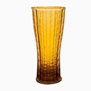Vaso vintage color miele, anni '60