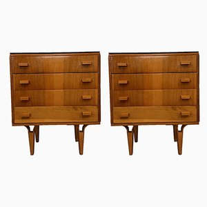 Bedside Tables by Frantisek Mezulanik, 1970s, Set of 2