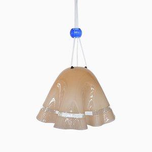 Lampada da soffitto Fazzoletto in vetro di Murano, anni '60