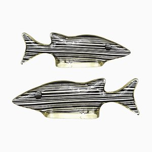 Small Mid-Century Modern Small Fishes in Lucite by Abraham Palatnik