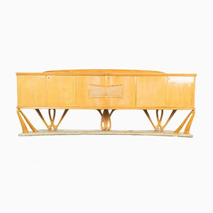 Vintage Maple Sideboard in the Style of Vittorio Dassi, 1940s