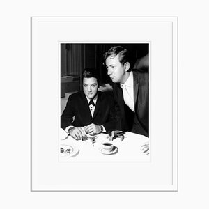 Elvis Presley & Bobby Darin in Las Vegas Archival Pigment Print Framed in White by Everett Collection
