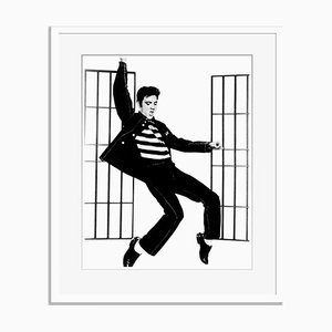 Jailhouse Rock Archival Pigment Print Framed in White by Everett Collection