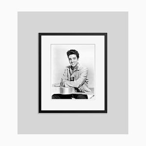 Happy Elvis Archival Pigment Print Framed in Black by Everett Collection