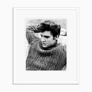 Elvis Archival Pigment Print Framed in White by Alamy