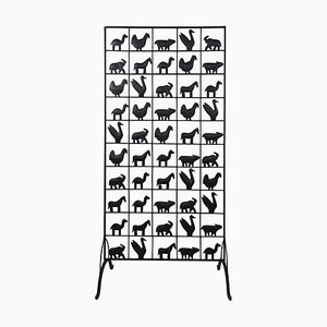 Mid-Century Modern Wrought Iron Room Divider by Atelier de Marolles