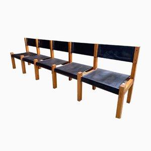 Mid-Century Les Arcs Bench by Pierre Chapo, 1969