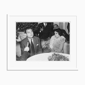 Elizabeth & Mike Silver Gelatin Resin Print Framed in White