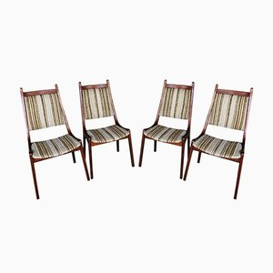 Mid-Century Teak Dining Chairs from R. Huber & Co, Set of 4