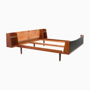Teak King Size Doppelbett von Hans J. Wegner für Getama, frühes 1950er