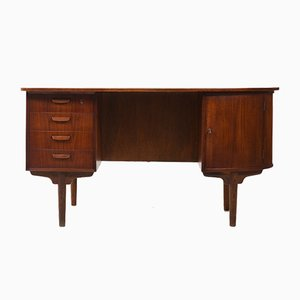 Mid-Century Danish Organic-Shaped Teak Desk, 1950s