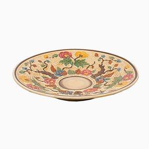 Vintage English Decorative Ceramic Serving Plate, 1950s