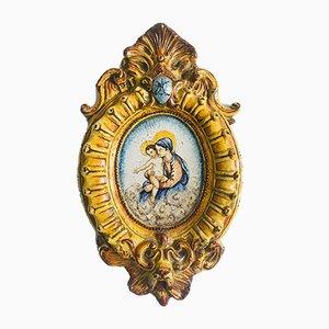 Antique Italian Ave Maria Majolica