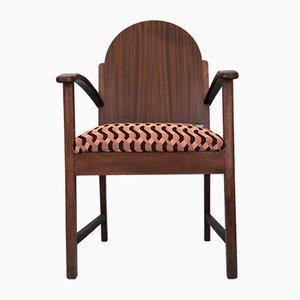 Vintage Amsterdam School Rosewood Armchair