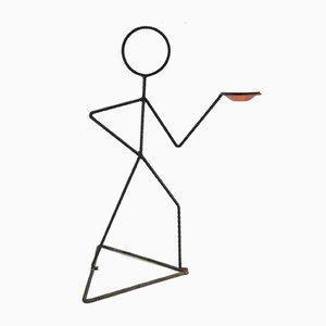 Rebar Stick Man Figur Kerzenhalter Skulptur, 1970er