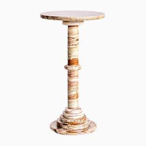 Tavolino in onice su piedistallo, Italia, anni '60