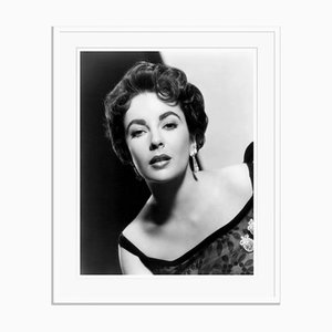 Elizabeth Taylor Photograph Portrait Archival Pigment Print Framed in White by Everett Collection