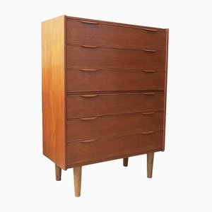 Mid-Century Danish 6-Drawer Teak Chest of Drawers, 1960s