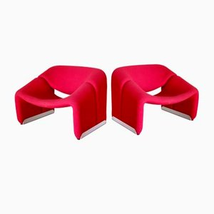 Vintage Groovy Chairs by Pierre Paulin for Artifort, Set of 2