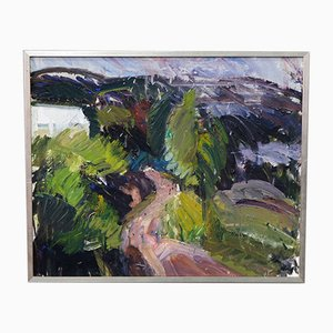 Per Olof Nord, Schwedische Moderne Gemälde, Öl auf Leinwand, 1970er