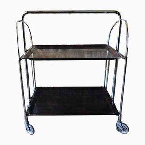 Vintage Formica & Rosewood Bar Cart or Folding Table on Wheels from Gerlinol, 1960s
