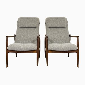 GFM-64 High Back Armchairs by Edmund Homa for GFM, 1960s, Set of 2