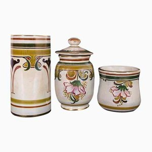 Liberty Ceramic & Porcelain Jars from Gialletti CP, 1930s, Set of 3