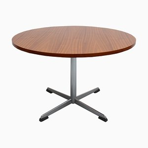 Walnut Coffee Table with Chrome Base, 1960s